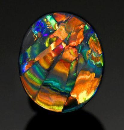 Black Harlequin Opal
